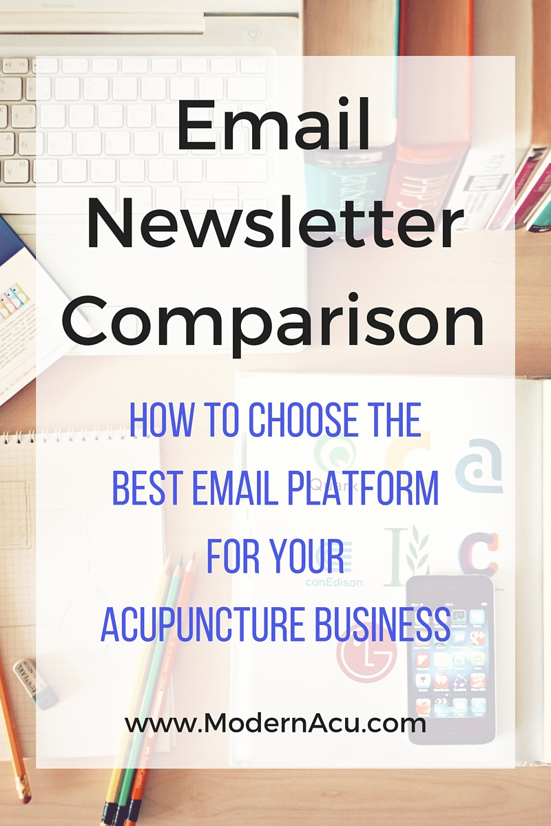 Modern Acupuncture Marketing Email Newsletter Comparison