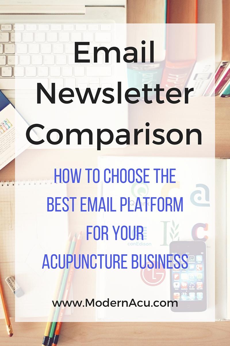 Modern Acupuncture Marketing Email Newsletter Comparison