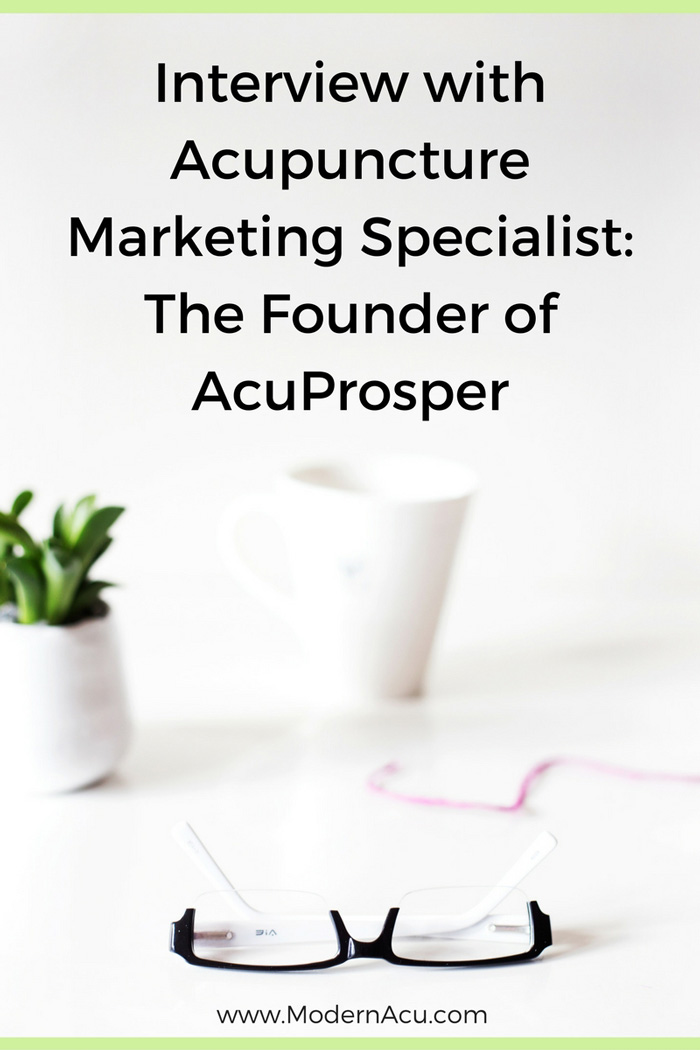 Learn how to market your practice in a way that feels genuine and never uncomfortable, with Katie Altneu, 6-Figure Acupuncturist and founder of the acupuncture marketing school AcuProsper. - www.ModernAcu.com