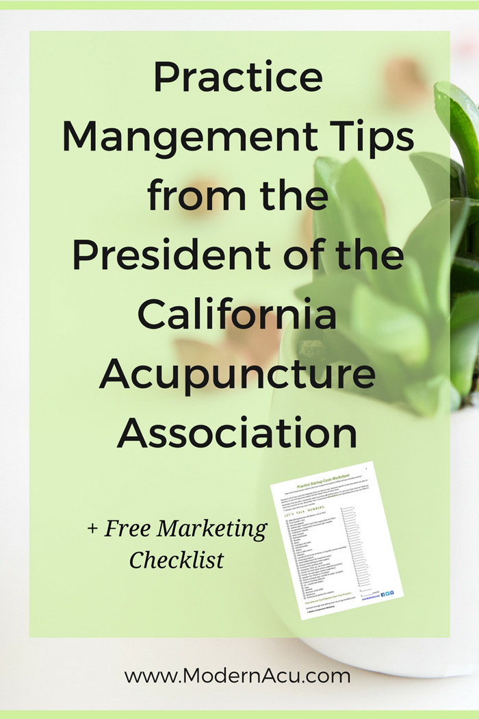 Acupuncture practice management & marketing tips from Michael Fox, current President of the California Acupuncture Association. Learn all the steps he took to achieve success in practice and bring more patients. Plus a checklist of all his advice, so we can all get started in our own practices!